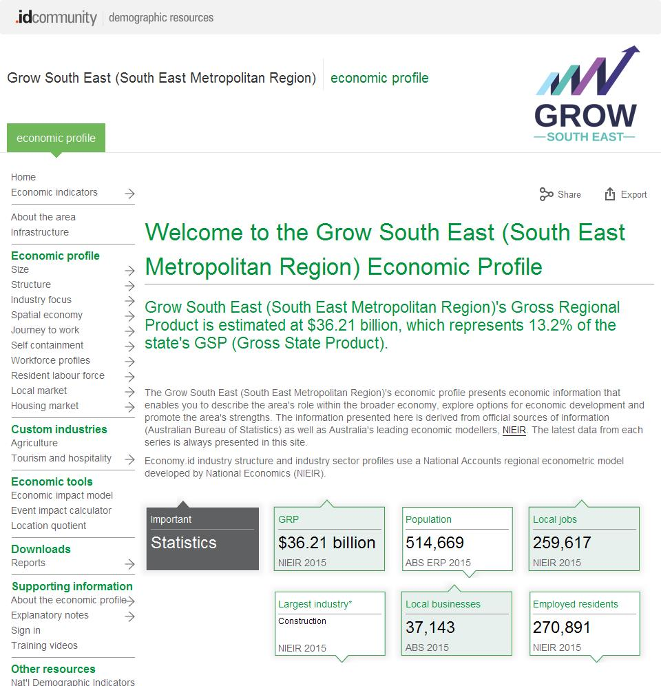 Grow South East (South East Metropolitan Region)