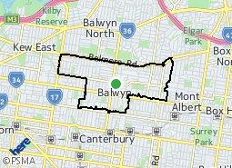 Location of Balwyn
