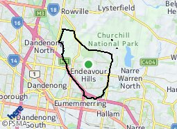 Location of Endeavour Hills