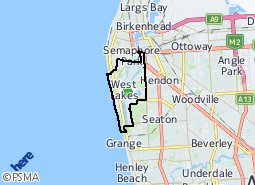 Location of West Lakes - West Lakes Shore - Tennyson