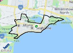 Location of Altona - Seaholme