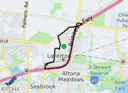 Location of Laverton