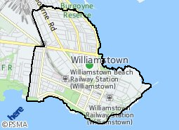 Location of Williamstown