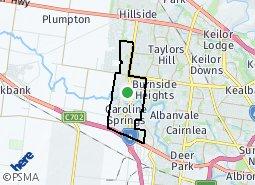 Location of Caroline Springs