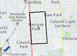 Location of Melrose Park