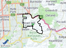 Location of Urrbrae - Springfield and District