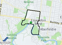 Location of Essendon West