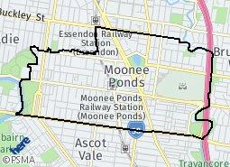 Location of Moonee Ponds