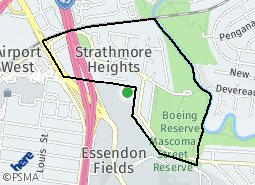 Location of Strathmore Heights