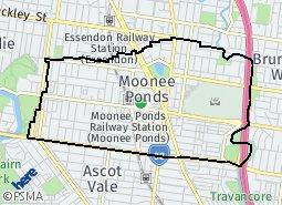 Location of Moonee Ponds (N)