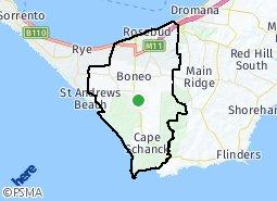 Location of Rosebud - Capel Sound - McCrae - Boneo - Fingal - Cape Schanck