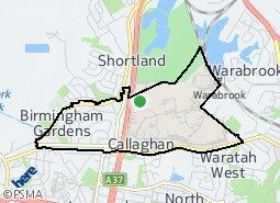 Location of Birmingham Gardens - Callaghan