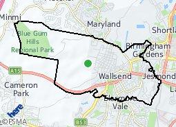 Location of Wallsend