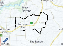 Location of McLaren Flat
