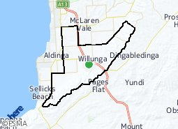 Location of Willunga and Surrounds