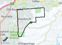 Location of Woodcroft