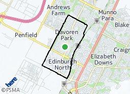 Location of Davoren Park - Elizabeth West