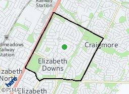 Location of Elizabeth Downs