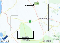 Location of Naracoorte-Lucindale Council area