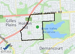 Location of Holden Hill