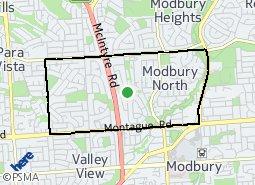 Location of Modbury North