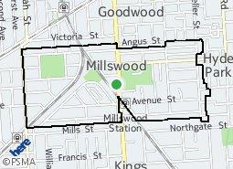 Location of Millswood