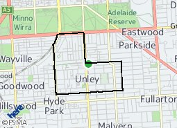 Location of Unley
