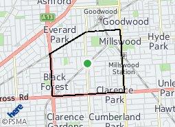 Location of Fullarton Ward