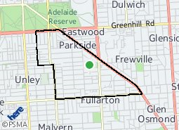 Location of Parkside Ward