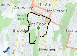 Location of Mt Cook