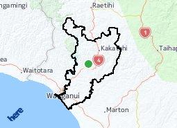 Location of Fordell-Kakatahi - Marybank-Gordon Park