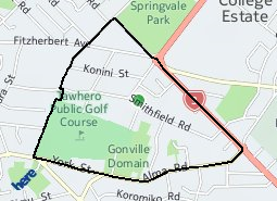 Location of Gonville East