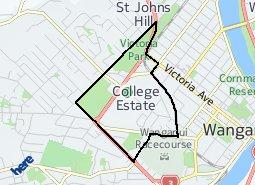 Location of Whanganui Collegiate